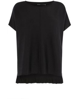Frill-back Knit - Black