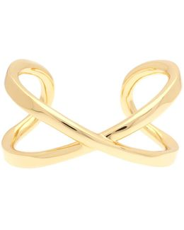 Criss-cross Bangle - Gold Color