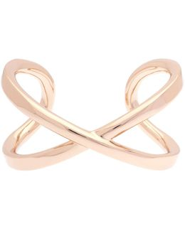 Criss-cross Bangle - Rose Gold Color