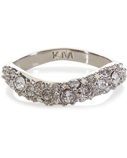 Zz023 Pave Wave Ring - Km