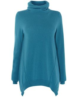 Roll-neck Tunic - Teal