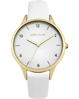 White Leather Watch - White