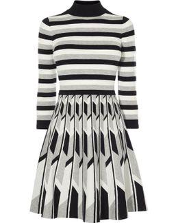 Monochrome Geo Knit Dress - Multicolour