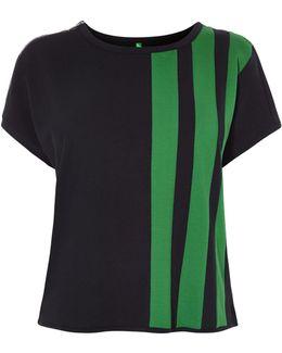 Green Stripe Box Top - Blue/multi