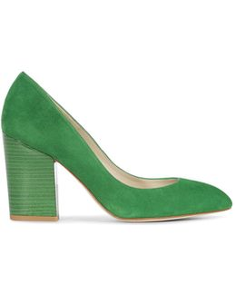 Almond Toe Block Courts - Green