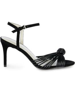 Knot Detail Sandal - Black