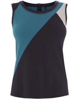 Diagonal Stripe Vest - Blue/multi