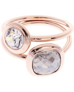 Milano Stone Stacking Ring - Rose Gold Colour