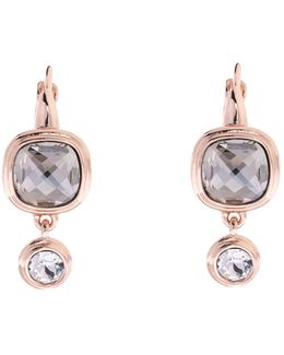 Milano Stone Drop Earrings - Rose Gold Colour