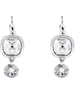 Milano Stone Drop Earrings - Silver Colour