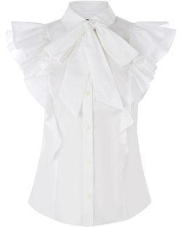 The Super Frill Shirt - White
