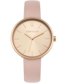 Pearlised Strap Watch - Nude