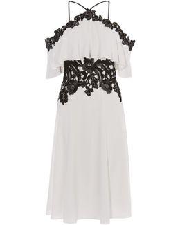 Boho Off-the-shoulder Dress - White/multi