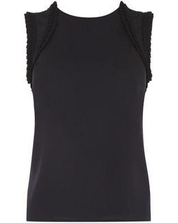Frill Sleeve Top - Black