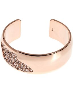 Sparkling Wide Cuff - Rose Gold Colour