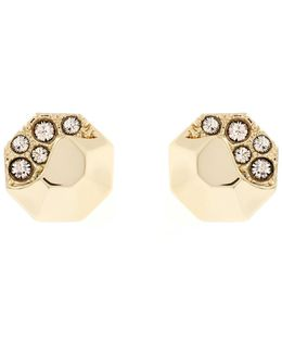 Sparkling Stud Earring - Gold Colour