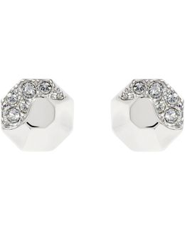 Sparkling Stud Earring - Silver Colour