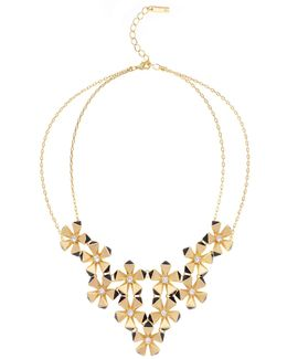 Geo Flower Necklace - Gold Colour