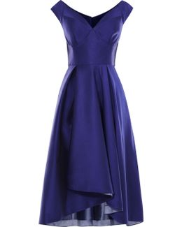 Metallic A-line Dress - Blue
