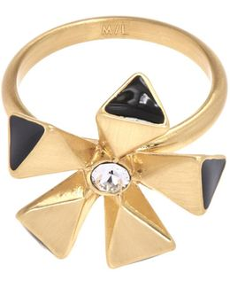 Geo Flower Ring - Gold Colour