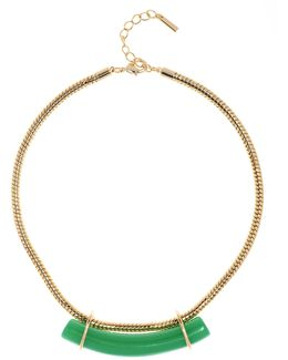 Statement Stone Necklace - Gold Colour
