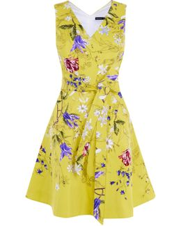 Yellow Floral A-line Dress - Yellow/multi
