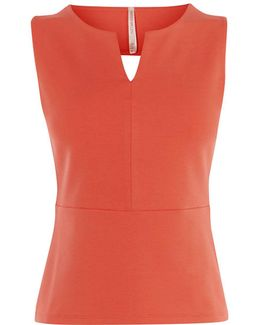 Cut Out Top - Coral