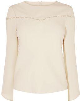 Button-detail Blouse - Cream