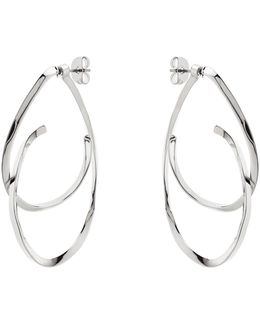 Wave Drop Earring - Silver Colour