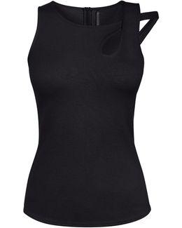 Tear Drop Cut-out Vest - Black
