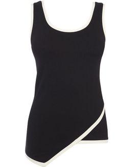 Contrast Wrap Vest - Black
