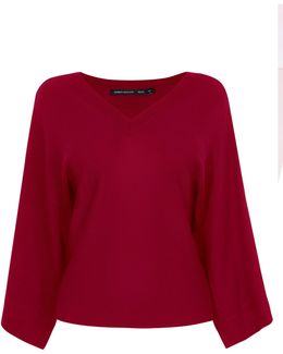 Kimono Knitted Jumper - Red