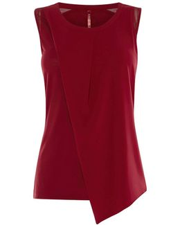 Layered Sleeveless Top - Red