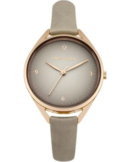 Classic Leather Watch - Grey