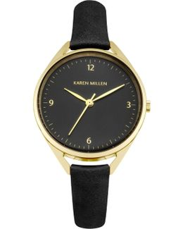 Classic Leather Watch - Black