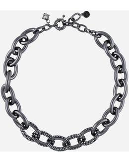 Gunmetal Link Necklace