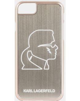 Karl Head Gold Aluminum Iphone 7 Case