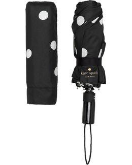 Black And Cream Deco Dot Travel Umbrella