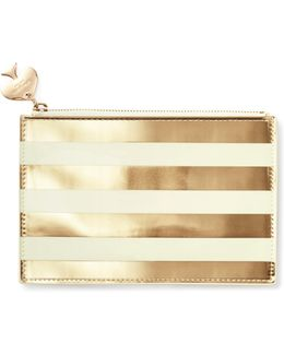 Gold Stripe Pencil Pouch