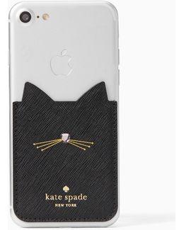 Embellished Cat Sticker Pocket