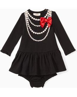 Babies' Pearl Necklace Dress Set