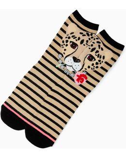 Cheetah Trouser Socks
