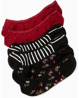 Cherry No Show Sock Set