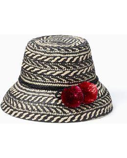 Basket Weave Flat Top Cloche