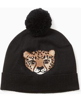 Cheetah Intarsia Beanie