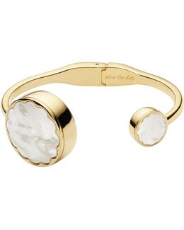 Gold And White Mop Scallop Bangle Tracker