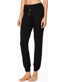 Modal Terry Relaxed Bow Long Sweatpants
