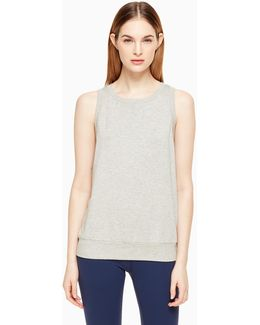 Modal Terry Bow Cut Out Sleeveless Sweatshirt