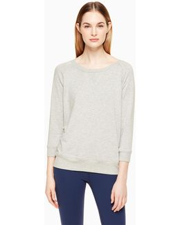 Modal Terry Bow Cut Out Sweatshirt