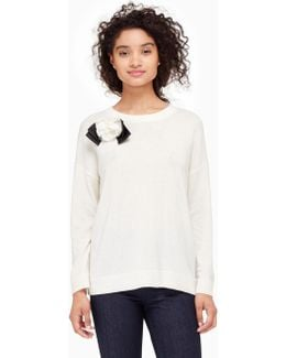 Rosette Bow Sweater